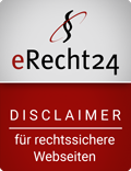 Disclaimer-Siegel eRecht24